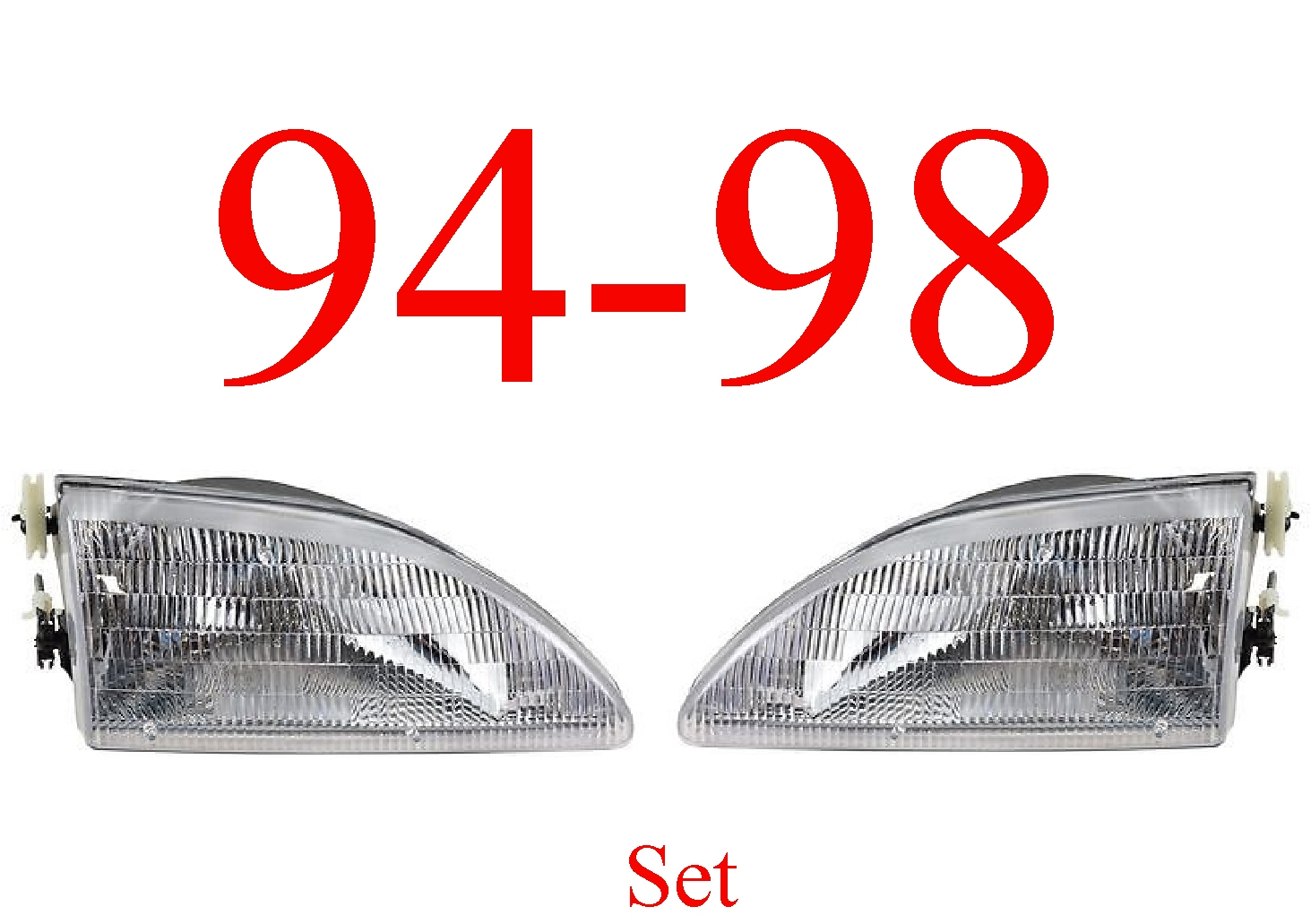 94-98 Mustang 2Pc Head Light Set